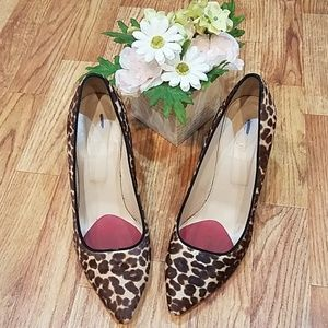 J. Crew collection Roxie Calf Hair Leopard Heels